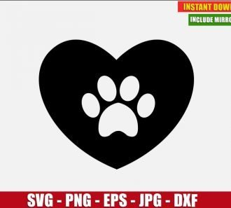 Dog Paw Heart Freebie