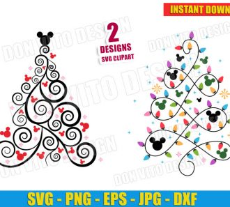 Disney Christmas Tree Mickey Mouse (SVG dxf png) cut files png image vector clipart - DonVitoDesign Store