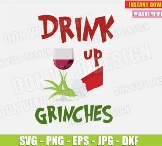 Drink up Grinches (SVG dxf png) cut files PNG image vector clipart - DonVitoDesign Store