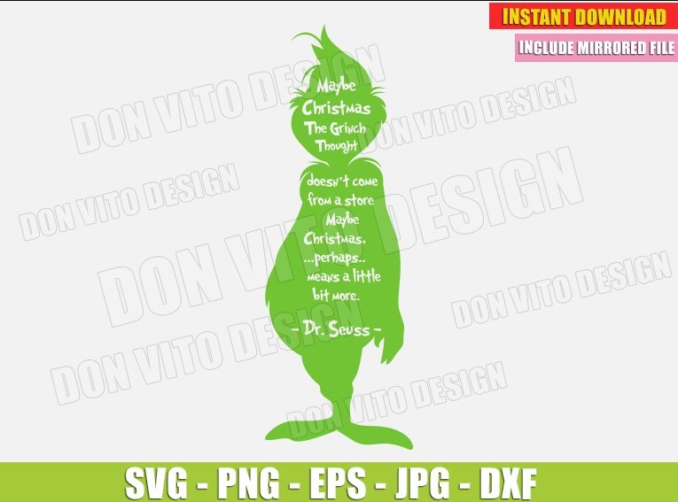 Maybe Christmas The Grinch Thought Svg Dxf Png Grinches Cut Files