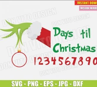 Days till Christmas (SVG dxf png) cut files PNG image vector clipart - DonVitoDesign Store