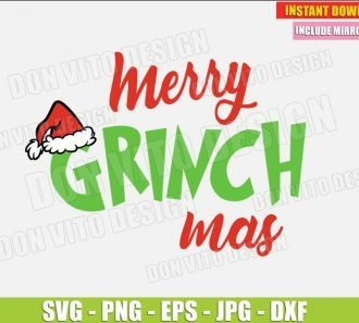 Merry Grinchmas The Grinch Movie (SVG dxf png)cut files PNG image vector clipart - DonVitoDesign Store