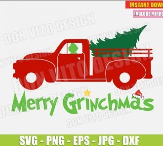 Merry Grinchmas (SVG dxf png) cut files PNG image vector clipart - DonVitoDesign Store