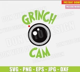 The Grinch Cam (SVG dxf png) cut files PNG image vector clipart - DonVitoDesign Store