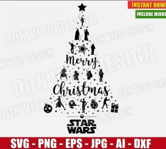 Star Wars Christmas Tree (SVG dxf png) cut files png image vector clipart - DonVitoDesign Store