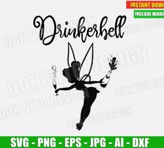 Drinkerbell (SVG dxf png) cut files PNG image vector clipart - DonVitoDesign Store
