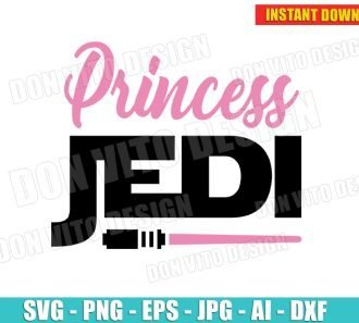 Star Wars Inspired Princess Leia Jedi (SVG dxf png) Disney Cut Files cut files PNG image vector clipart - DonVitoDesign Store