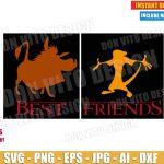 Timon & Pumba - Best Friends (SVG dxf png) Disney Movie Lion King Logo Cut Files Vector Clipart T-Shirt Design Boy Girl Kids Famly Simba DIY