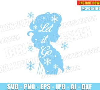 Frozen Elsa - Let it Go (SVG dxf png) cut files png image vector clipart - DonVitoDesign Store