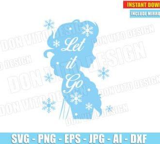 Frozen Elsa - Let it Go (SVG dxf png) cut files png image vector clipart - DonVitoDesign Store