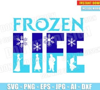 Frozen Life - Elsa Anna Kristoff Olaf (SVG dxf png) cut files PNG image vector clipart - DonVitoDesign Store