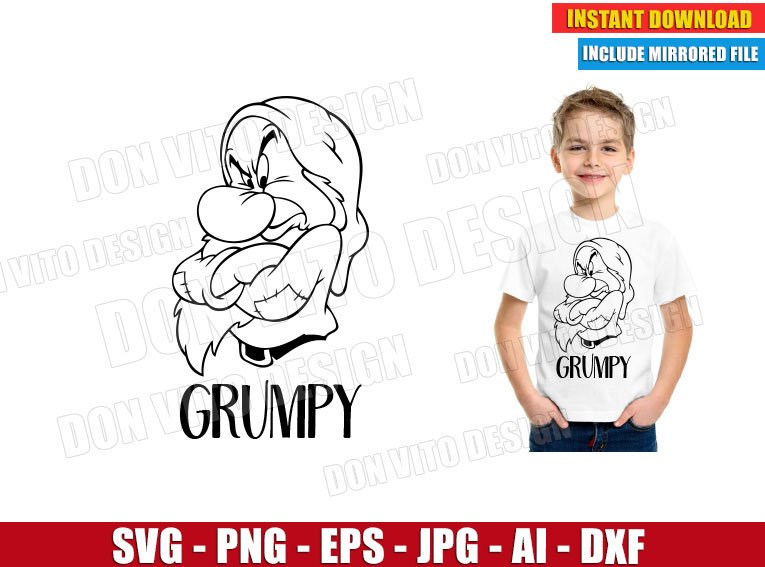 Grumpy Seven Dwarfs (SVG dxf png) cut files png image vector clipart - DonVitoDesign Store