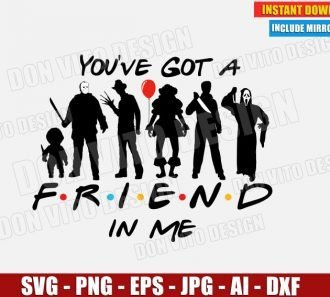Halloween You've got a Friend in Me (SVG dxf png) cut files PNG image vector clipart - DonVitoDesign Store