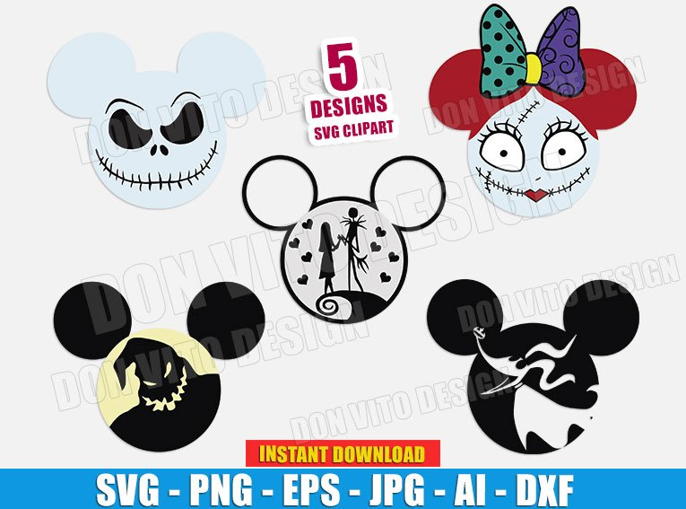 Jack Skellington Disney Movie (SVG dxf png) cut files png image vector clipart - DonVitoDesign Store