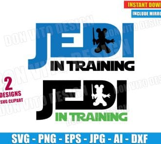 Jedi In Training Disney (SVG dxf png) cut files PNG image vector clipart - DonVitoDesign Store