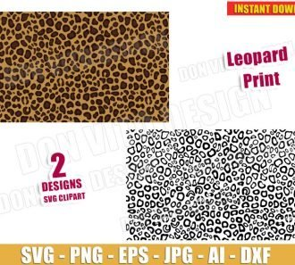 Leopard Print (SVG dxf png) cut files PNG image vector clipart - DonVitoDesign Store