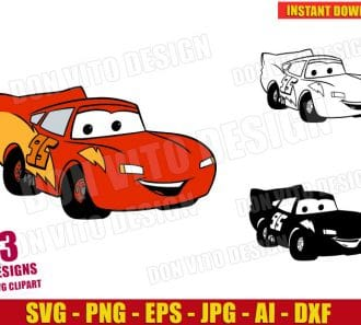 Lightning McQueen (SVG dxf png) cut files png image vector clipart - DonVitoDesign Store