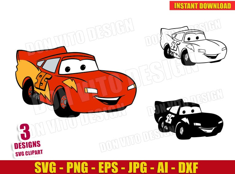 Lightning Mcqueen Svg Dxf Png Disney Movie Cars Logo Cut Files Art
