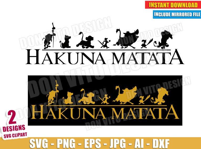 Lion King Hakuna Matata Logo (SVG dxf png) cut files PNG image vector clipart - DonVitoDesign Store