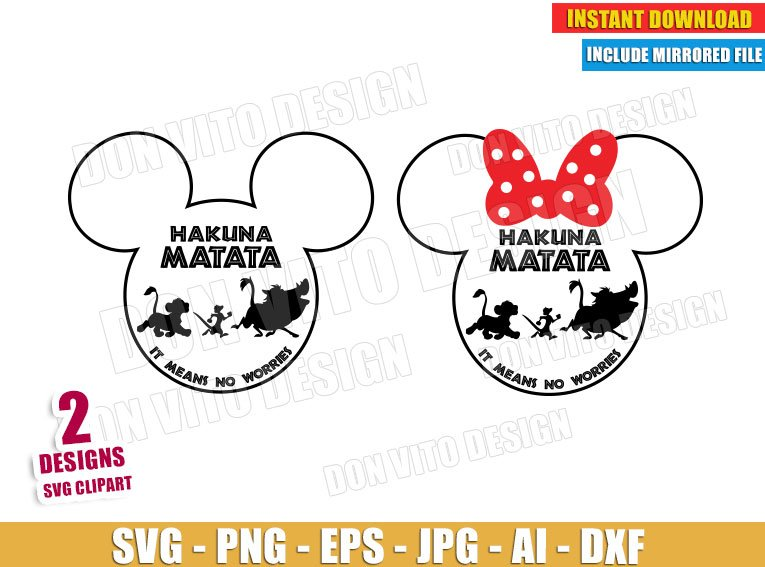 Lion King Mickey Head (SVG dxf png) cut files png image vector clipart - DonVitoDesign Store