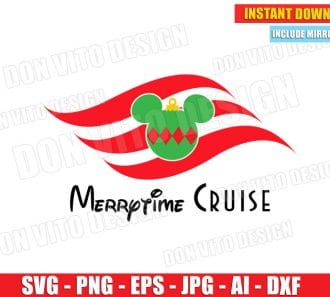 Merrytime Cruise Line (SVG dxf png) cut files PNG image vector clipart - DonVitoDesign Store