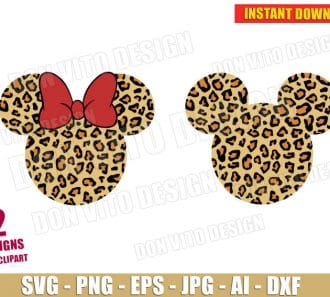 Mickey & Minnie Mouse Safari (SVG dxf png) cut files png image vector clipart - DonVitoDesign Store