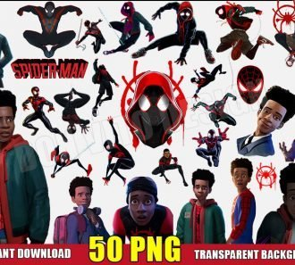 Miles Morales Clipart (50 PNG Images) Transparent Background Files Digital Image clipart - Don Vito Design Store