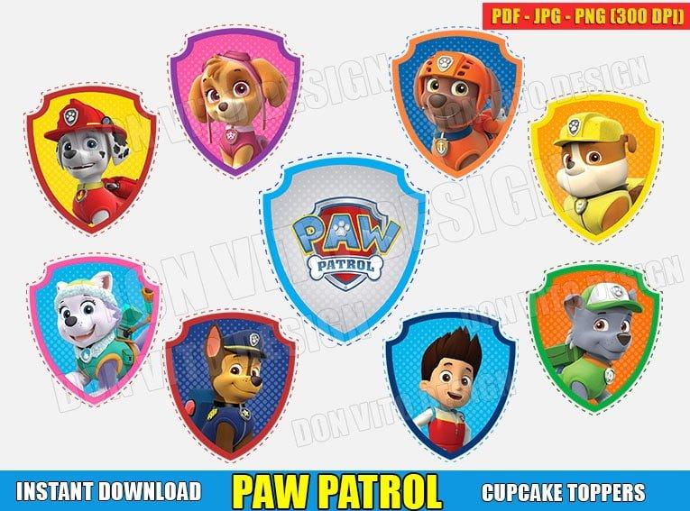 Paw Patrol Logo Cupcake Toppers Pdf Jpg Png Birthday Printable Clipart Download free paw patrol png images. paw patrol logo cupcake toppers pdf