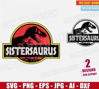 Sistersaurus - Jurassic Park (SVG dxf png) cut files png image vector clipart - DonVitoDesign Store