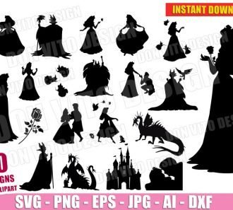 Sleeping Beauty Bundle (SVG dxf png) cut files PNG image vector clipart - DonVitoDesign Store