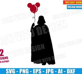 Star Wars Darth Vader Balloon (SVG dxf png) cut files png image vector clipart - DonVitoDesign Store