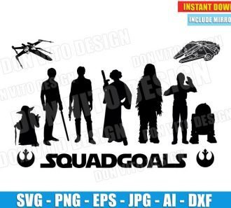 Star Wars Jedi Squadgoals (SVG dxf png) cut files PNG image vector clipart - DonVitoDesign Store