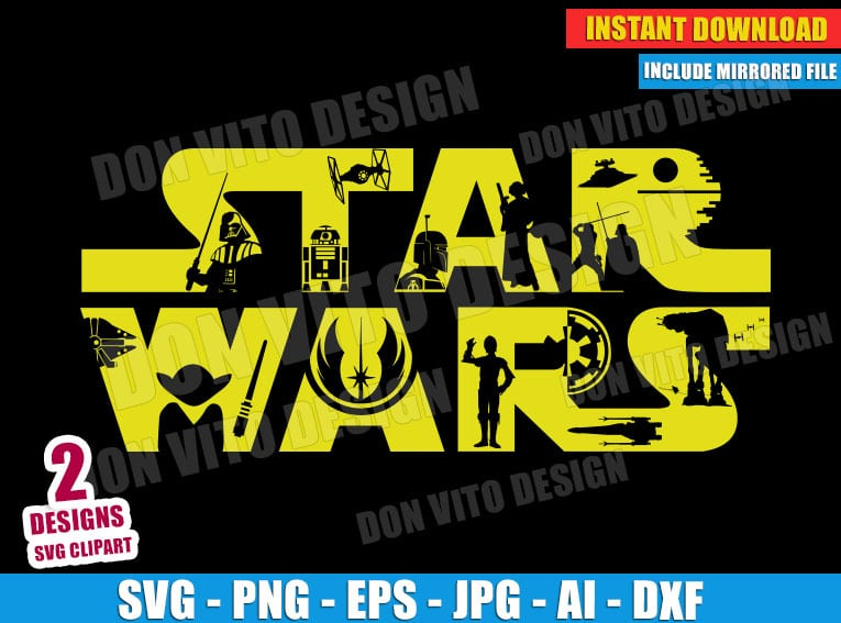 Star Wars Logo Movie (SVG dxf png) cut files png image vector clipart - DonVitoDesign Store