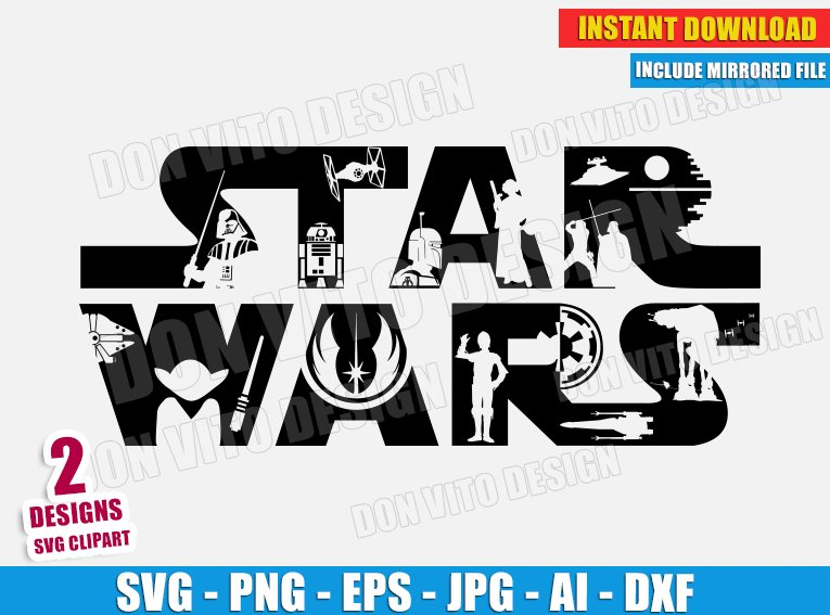 Star Wars Logo Movie (SVG dxf png) Disney Movie Cut Files ...