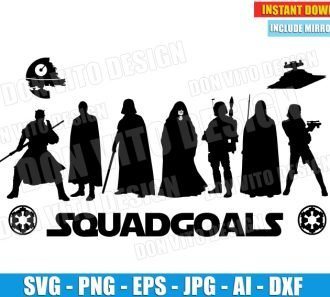 Star Wars Sith Squadgoals (SVG dxf png) cut files png image vector clipart - DonVitoDesign Store