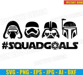 Star Wars Squad Goals (SVG dxf png) cut files png image vector clipart - DonVitoDesign Store