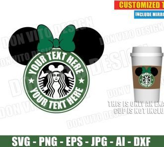 Starbucks Disney Logo Customised (SVG dxf png) cut files PNG image vector clipart - DonVitoDesign Store