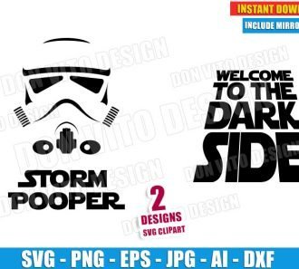 Storm Pooper Welcome to the Dark Side (SVG dxf png) cut files png image vector clipart - DonVitoDesign Store