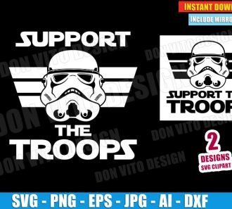 Support The Troops (SVG dxf png) cut files PNG image vector clipart - DonVitoDesign Store