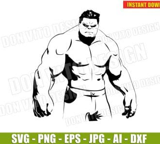 The Hulk (SVG dxf png) cut files PNG image vector clipart - DonVitoDesign Store