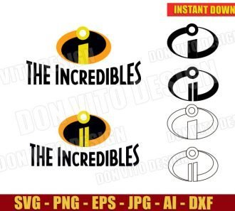 The Incredibles Logo One & Two (SVG dxf png) cut files PNG image vector clipart - DonVitoDesign Store