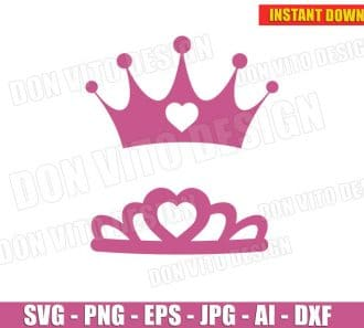 Tiara Crown Princess (SVG dxf png) cut files png image vector clipart - DonVitoDesign Store