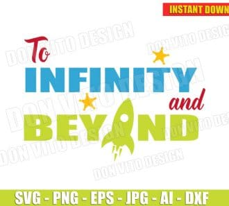 To infinity And Beyond (SVG dxf png) cut files PNG image vector clipart - DonVitoDesign Store
