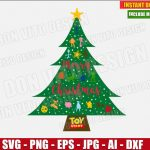 Toy Story - Disney Christmas Tree (SVG dxf png) Xmas Holiday Logo Vector Clipart Cut File Silhouette Cricut T-Shirt Design Kids Woody Forky