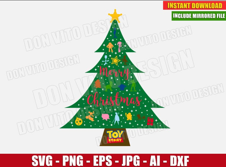 Toy Story - Disney Christmas Tree (SVG dxf png) cut files png image vector clipart - DonVitoDesign Store