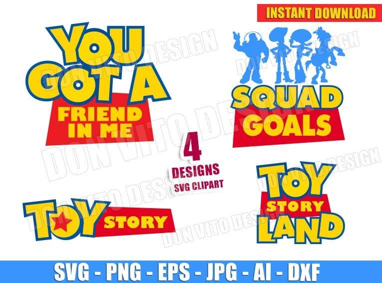 Toy Story Logo Bundle Svg Dxf Png Disney Movie Cut Files Clipart Buzz