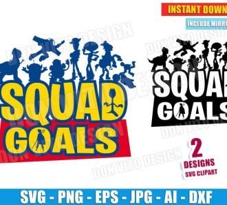 Toy Story SquadGoals (SVG dxf png) cut files PNG image vector clipart - DonVitoDesign Store
