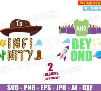 Toy Story To Infinity and Beyond (SVG png) cut files PNG image vector clipart - DonVitoDesign Store