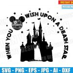 When You Wish Upon a Death Star Wars (SVG dxf png) Disney Darth Vader Balloon Castle Cut File Vector Clipart T-Shirt Design Boy Girl
