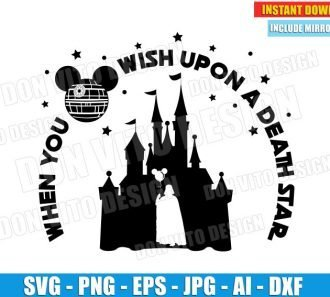 When You Wish Upon Death Star Wars (SVG dxf png) cut files PNG image vector clipart - DonVitoDesign Store